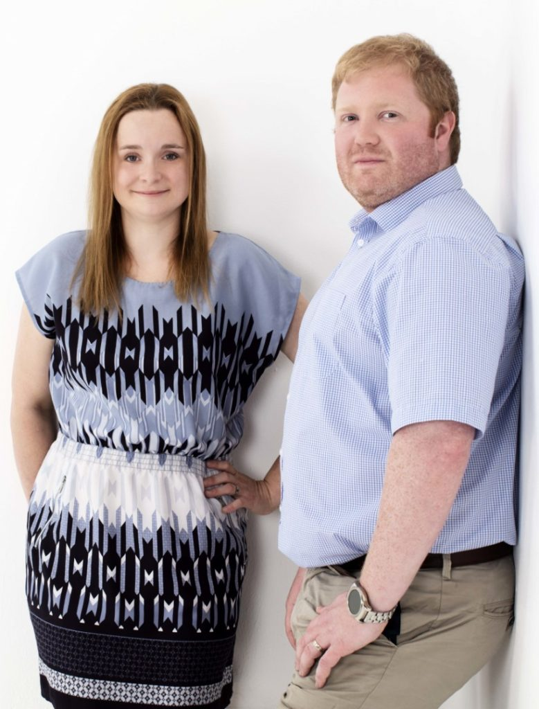 Tom and Rebecca Hayden, owner-managers of Delocate